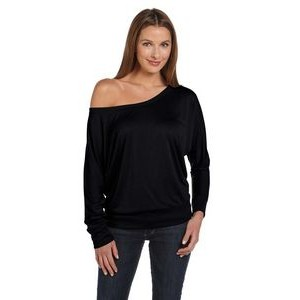Color Image Apparel - Bella Ladies' Flowy Long-Sleeve Off Shoulder T-Shirt