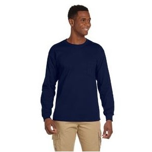 Gildan Adult Ultra Cotton® 10 oz./lin. yd. Long-Sleeve Pocket T-Shirt