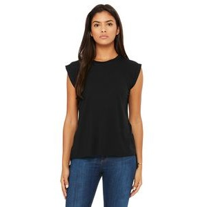 Color Image Apparel - Bella Ladies' Flowy Muscle T-Shirt with Rolled Cuff