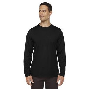 CORE 365 Men's Agility Performance Long-Sleeve Piqué Crewneck
