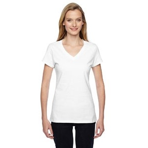 Fruit of the Loom Ladies' 7.8 oz./lin. yd. Sofspun® Jersey Junior V-Neck T-Shirt