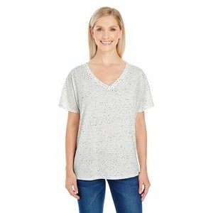 THREADFAST Ladies' Triblend Fleck Short-Sleeve V-Neck T-Shirt
