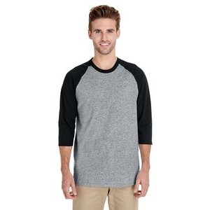 Gildan Adult Heavy Cotton? 8.8 oz./lin. yd. 3/4-Raglan Sleeve T-Shirt