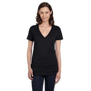 Color Image Apparel - Bella Ladies' Jersey Short-Sleeve Deep V-Neck T-Shirt