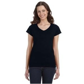 Gildan Ladies' SoftStyle® 7.5 oz./lin. yd. Fitted V-Neck T-Shirt
