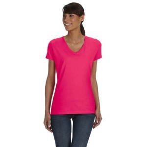Fruit of the Loom Ladies' 8.3 oz./lin. yd. HD Cotton? V-Neck T-Shirt