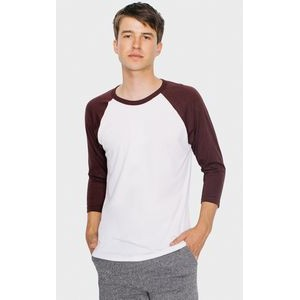 American Apparel® Unisex Poly-Cotton 3/4 Sleeve Raglan T-Shirt